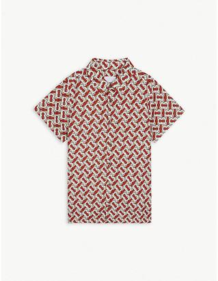 Burberry Desmond monogram-print cotton-poplin shirt 3-14 years