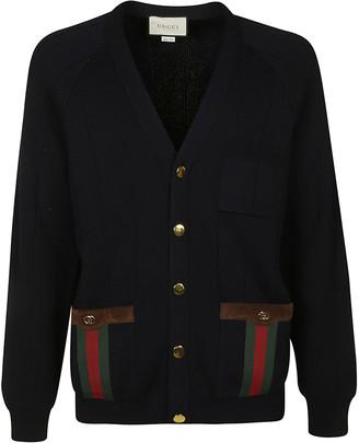 Gucci Bottom Buttoned Pocket V-neck Cardigan