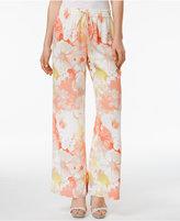 Calvin Klein Floral-Print Wide-Leg Pants, a Macy's Exclusive Style