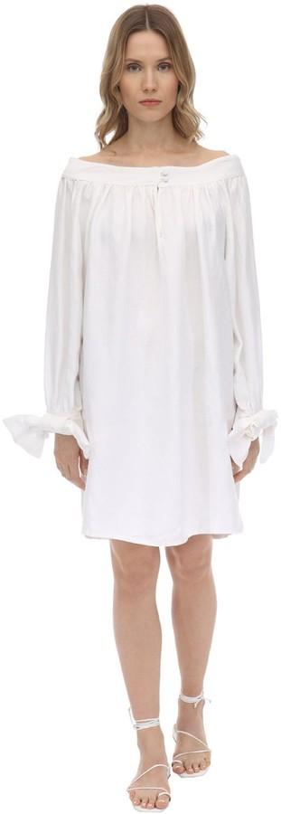 ÀCHEVAL PAMPA Desnuda Linen Blend Dress