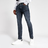 Mens River Island Dark Blue Dylan slim fit jeans