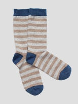 White + Warren Cashmere Striped Socks