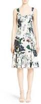 Erdem 'Tate' Floral Print Flared Neoprene Dress