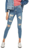 Topshop PETITE Super Rip Jamie Jeans 28-Inch Leg