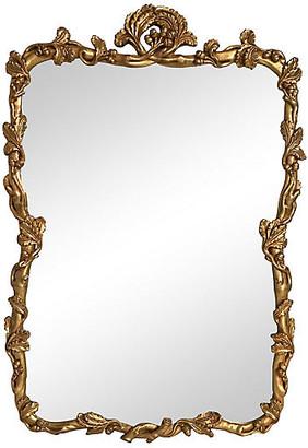 One Kings Lane Vintage Floral Framed Gilt Mirror - Tobe Reed