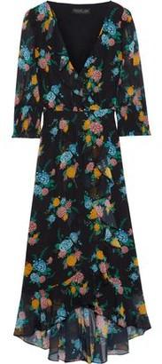 Rachel Zoe Wrap-effect Floral-print Chiffon Midi Dress