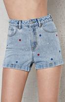 PacSun Galaxy Blue Denim Mom Shorts