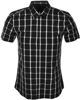 Antony Morato Short Sleeved Check Shirt Black