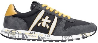 Premiata Eric Sneakers In Black Suede And Fabric