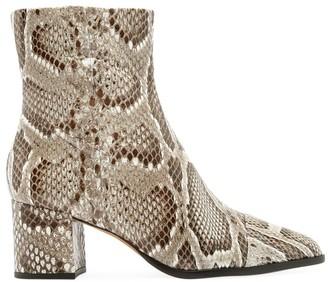 Alexandre Birman Rachel Python Ankle Boots