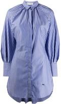 Etro fishtail-hem striped shirt