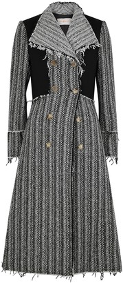 Tory Burch Monochrome double-breasted wool-blend coat