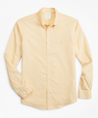 Brooks Brothers Stretch Milano Slim-Fit Sport Shirt, Non-Iron