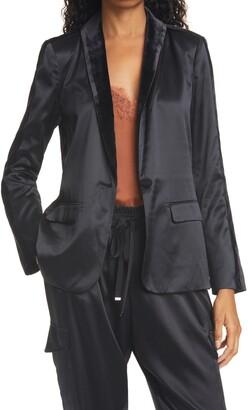 CAMI NYC Audrey Silk Tuxedo Jacket