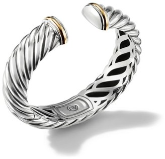 David Yurman Sculpted Cable Cuff with 18K Yellow Gold
