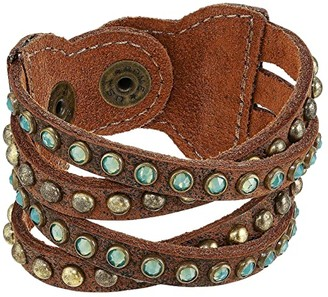 Leather Rock B655 (Brandy) Bracelet