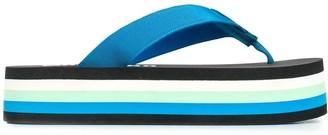 Moschino Platform Thong Flip Flops
