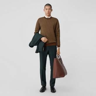 Burberry Monogram Merino Wool Jacquard Sweater