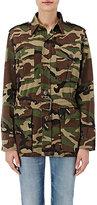 Saint Laurent Women's Camouflage Belted Field Jacket