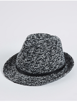 M&S Collection Buckle Trilby Winter Hat
