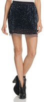 Free People Sequined Mesh Wild Child Skirt