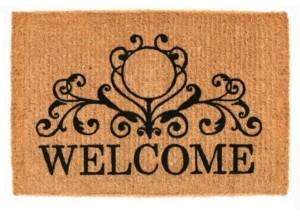 Home & More Kingston Welcome 3' x 6' Coir Doormat Bedding