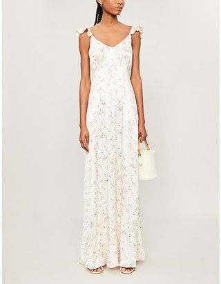 Ghost Dahlia floral-print satin maxi dress