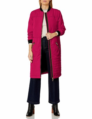 A|X Armani Exchange Women's Knee Length Coat Front and Zipper Pockets