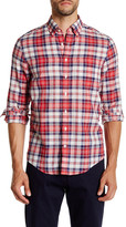 Gant Preppy Poplin Check Long Sleeve Trim Fit Shirt
