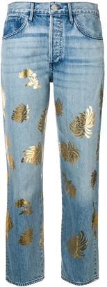 3x1 Flower Print Jeans