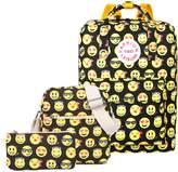 Tibes Canvas Cute Backpack Student School Backpack 3pcs Bookbag