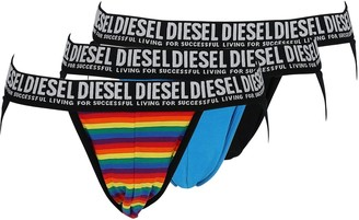 Diesel Pack Of 3 Stretch Cotton Briefs