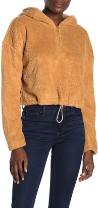 Hyfve Fuzzy Faux Shearling Zip-Up Pullover Jacket