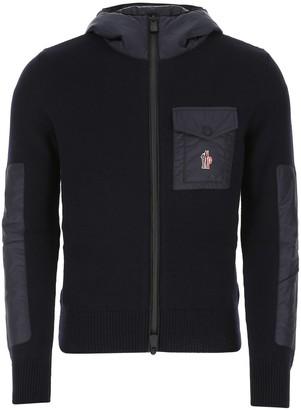 MONCLER GRENOBLE Logo Patch Zipped Jacket
