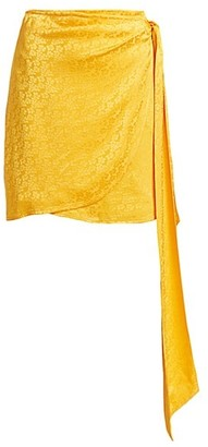 Andamane Camilla Floral Jacquard Mini Wrap Skirt