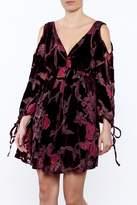 Anama Burgundy Floral Dress