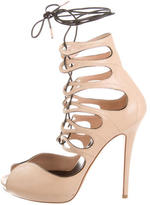 Alexander McQueen Leather Lace-Up Pumps