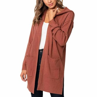 Aiserkly Ladies Long Sleeve Plain Printed Pockets Boyfriend Cardigan Womens Top Sweater Knitwear Jumper T-Shirt Tops Khaki M