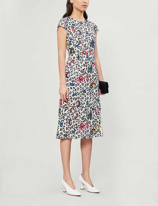 Ted Baker Stelaar Wilderness-print short-sleeve midi dress