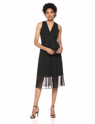 Anne Klein Women's V-Neck MIDI Dress