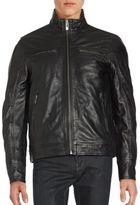 Rogue Mockneck Leather Zipper Jacket