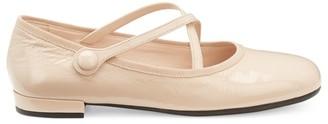 Miu Miu Crossover Strap Ballet Flats