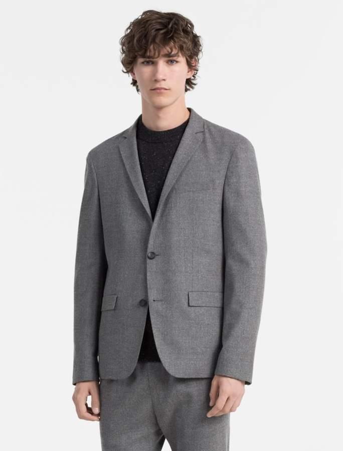 Calvin Klein slim fit wool flannel blazer