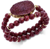 INC International Concepts Gold-Tone 2-Pc. Druzy Crystal Beaded Bracelet Set, Only at Macy's
