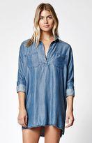 Billabong Wandering Blues Chambray Shirt Dress