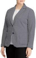 Lauren Ralph Lauren Plus Striped Knit Blazer