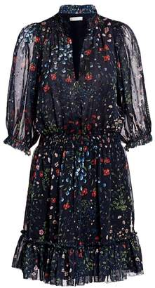 Joie Shima Floral Puff-Sleeve Dress