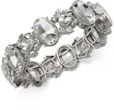 Charter Club Silver-Tone Crystal Stretch Bracelet, Created for Macy's