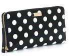 Kate Spade new york Nede Carlisle Street Polka Dot Patent Wallet- Black/Cream