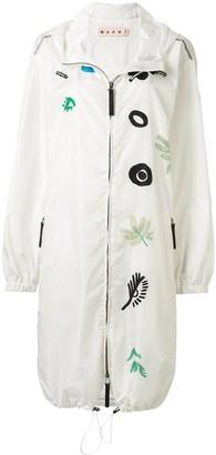 Marni Printed Hooded Raincoat
